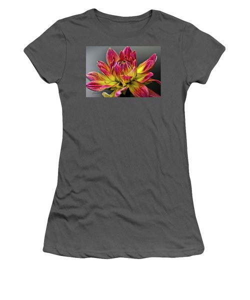 Dahlia Flame Women's T-Shirt (Junior Cut) by Joann Copeland-Paul