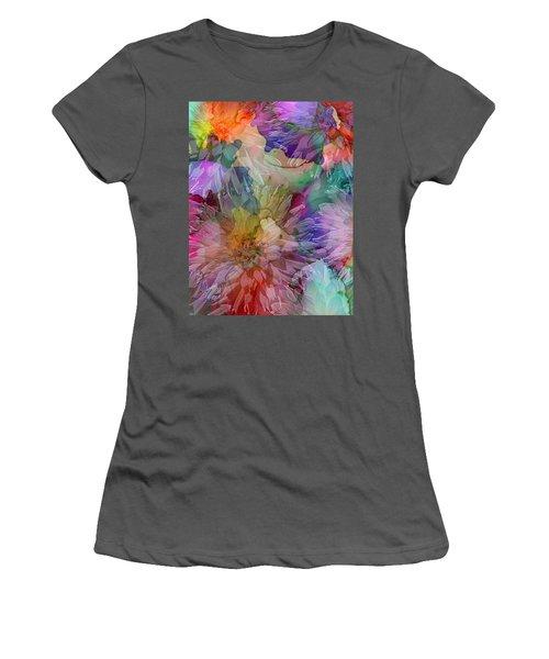Dahlias Women's T-Shirt (Athletic Fit)
