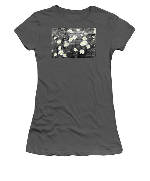 Women's T-Shirt (Junior Cut) featuring the photograph Daisy Patch by Benanne Stiens