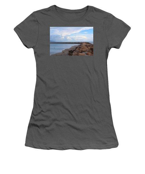 Women's T-Shirt (Junior Cut) featuring the photograph Dana Point  by Viktor Savchenko