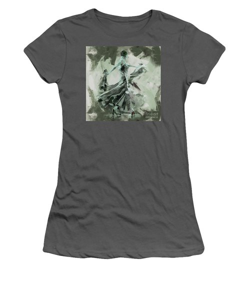 Women's T-Shirt (Junior Cut) featuring the painting Dance Flamenco Art  by Gull G