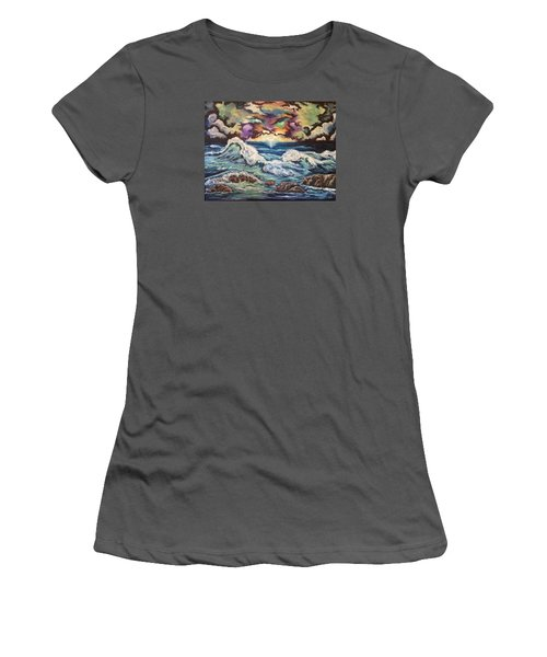 Dancing Skies 3 Women's T-Shirt (Athletic Fit)