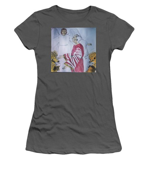 Daniel And Lion's Den Women's T-Shirt (Athletic Fit)