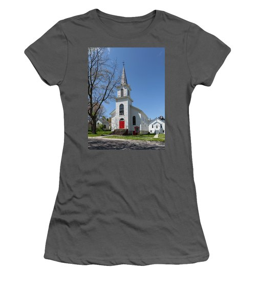 Women's T-Shirt (Athletic Fit) featuring the photograph Danish Lutheran Church by Fran Riley