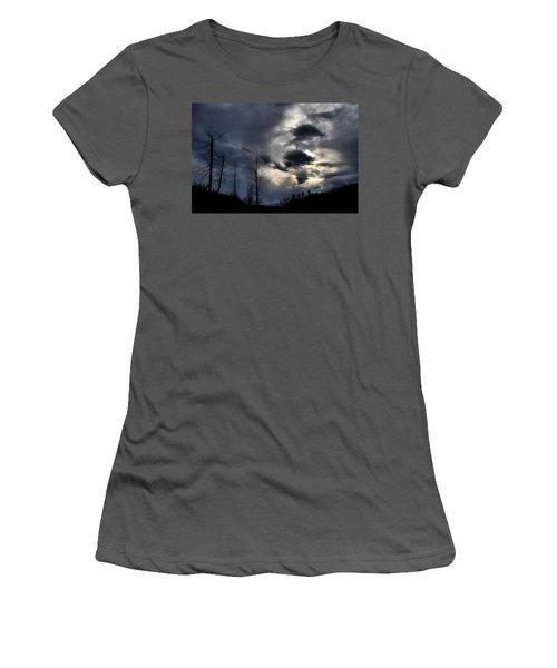 Women's T-Shirt (Junior Cut) featuring the photograph Dark Clouds by Tara Turner