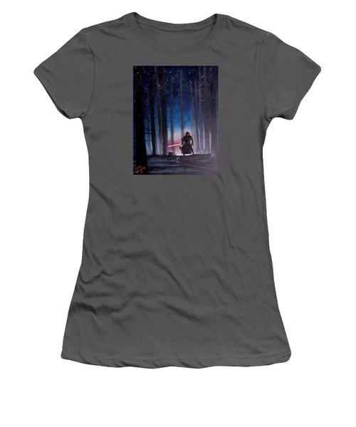 Dark Jedi Women's T-Shirt (Junior Cut) by Dan Wagner