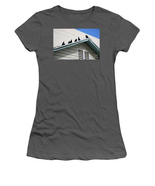 Dark Pigeons Women's T-Shirt (Athletic Fit)