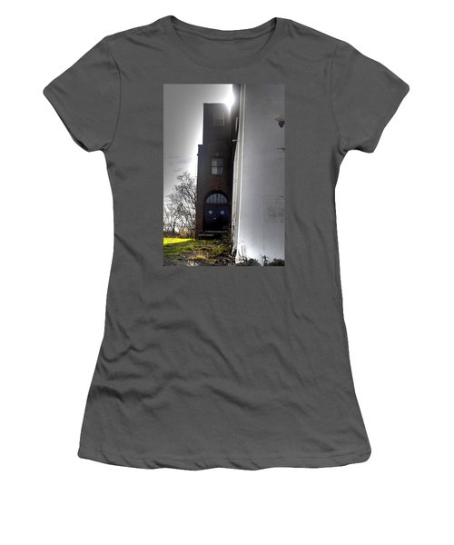 Darkened Door Women's T-Shirt (Athletic Fit)