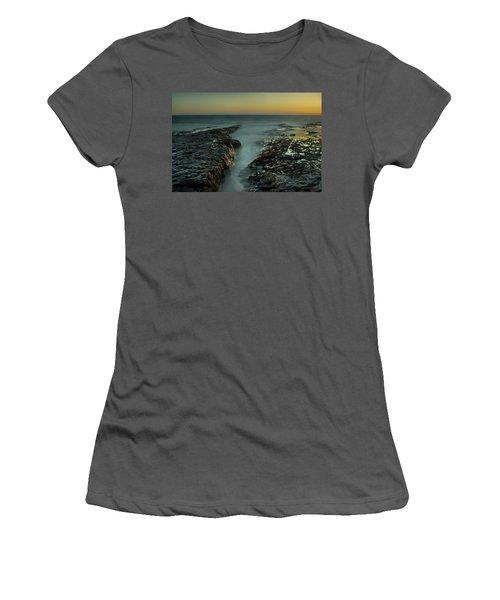 Davenport Landing Beach At Golden Hour Women's T-Shirt (Athletic Fit)