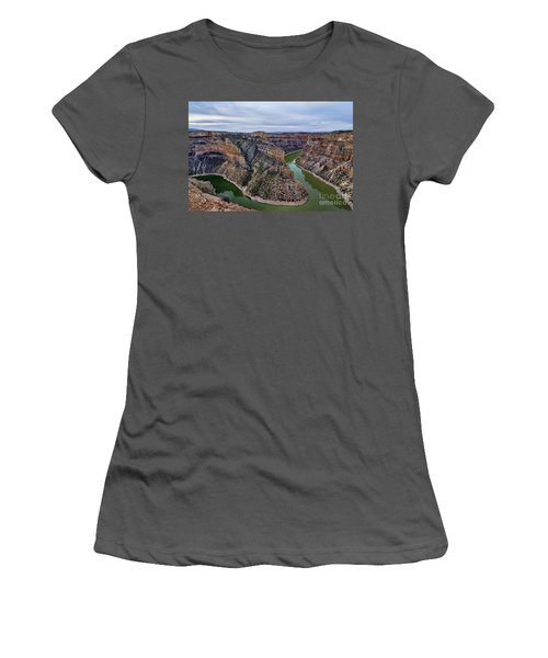 Dawn At Devils Overlook Bighorn Canyon Women's T-Shirt (Athletic Fit)
