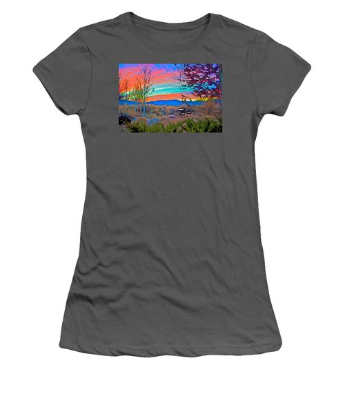 Dawn In El Prado  Women's T-Shirt (Athletic Fit)