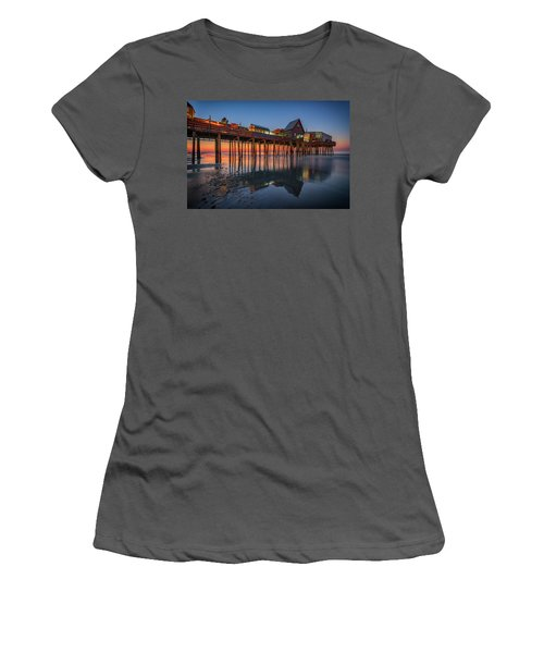 Women's T-Shirt (Athletic Fit) featuring the photograph Dawn On Old Orchard Beach by Rick Berk