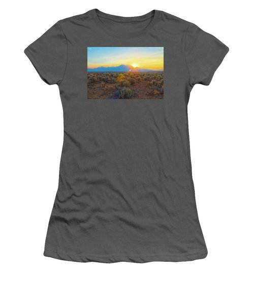 Dawn Over Magic Taos Mountain Women's T-Shirt (Athletic Fit)