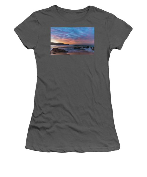 Dawn Seascape With Rocks And Clouds Women's T-Shirt (Athletic Fit)