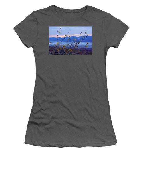 Women's T-Shirt (Junior Cut) featuring the photograph Death Valley Superbloom 304 by Daniel Woodrum