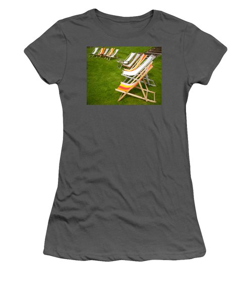 Deck Chairs Women's T-Shirt (Athletic Fit)