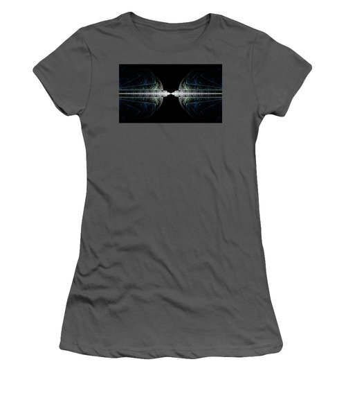 Women's T-Shirt (Junior Cut) featuring the digital art Deco And Diamonds by Lea Wiggins