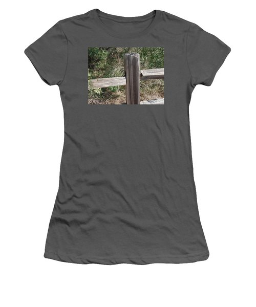 Women's T-Shirt (Junior Cut) featuring the photograph Decorative View - Central Texas Fence Line by Ray Shrewsberry
