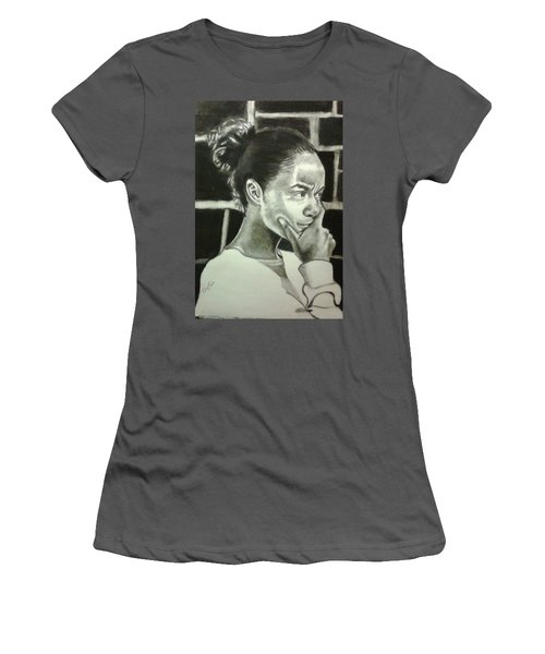 Deep Thinking Women's T-Shirt (Athletic Fit)