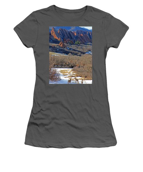 Deer At Roxborough Women's T-Shirt (Athletic Fit)