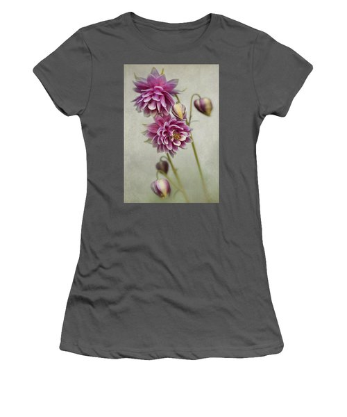 Delicate Pink Columbine Women's T-Shirt (Athletic Fit)
