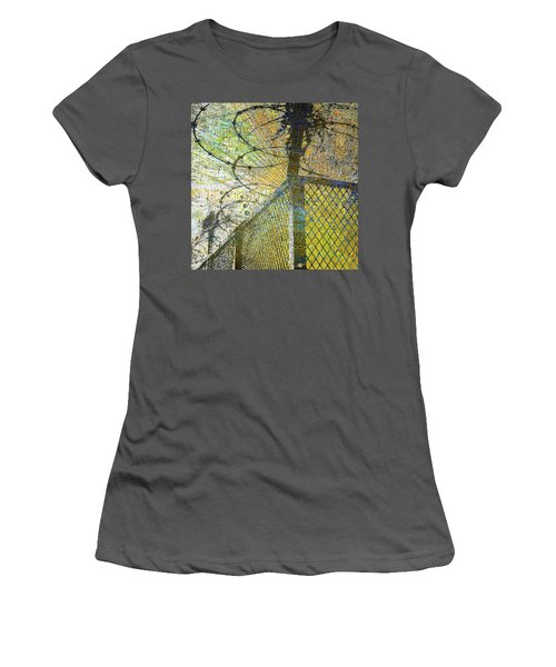 Women's T-Shirt (Junior Cut) featuring the mixed media Deliverance by Tony Rubino