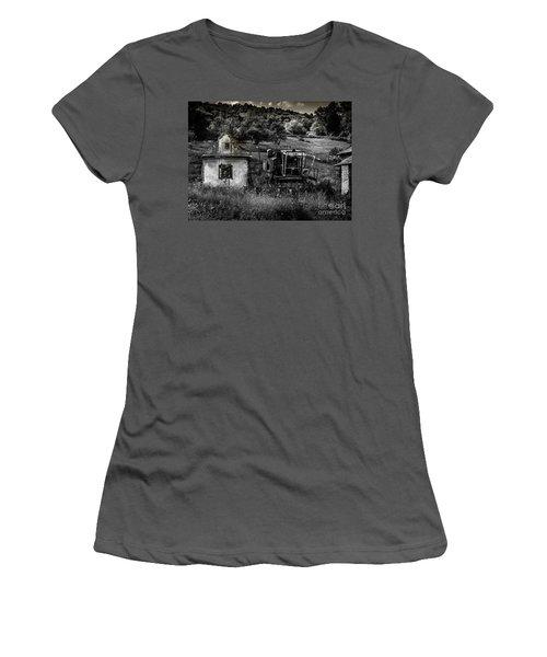 Derelict Farm, Transylvania Women's T-Shirt (Athletic Fit)