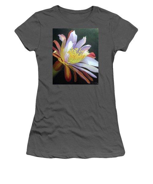 Desert Cactus Flower Women's T-Shirt (Athletic Fit)