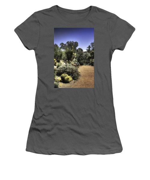 Desert Walkway Women's T-Shirt (Junior Cut) by Lynn Geoffroy