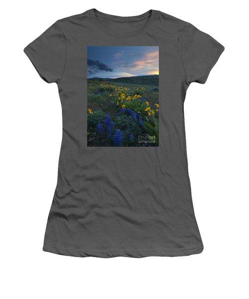 Desert Wildflower Sunset Women's T-Shirt (Athletic Fit)