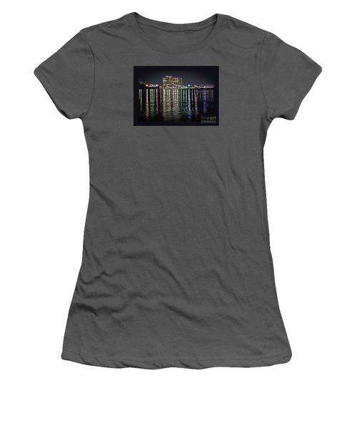 Destin Night Across The Estuary Women's T-Shirt (Athletic Fit)