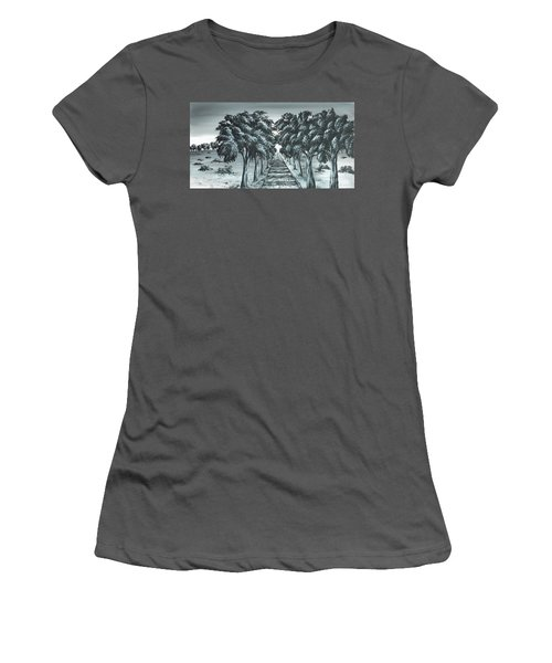 Women's T-Shirt (Junior Cut) featuring the painting Destination 2 by Kenneth Clarke