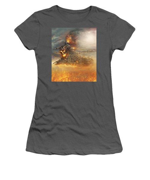 Devils Train 2 Women's T-Shirt (Athletic Fit)