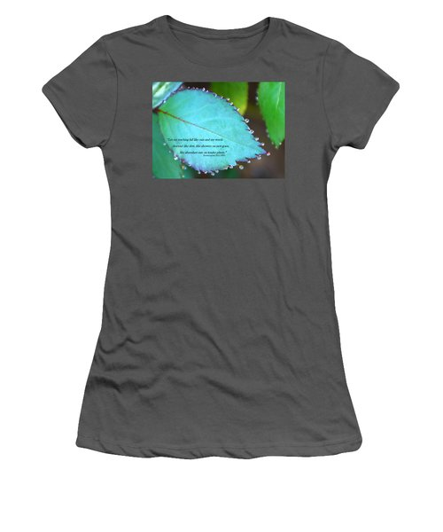 Dew Drops Women's T-Shirt (Athletic Fit)