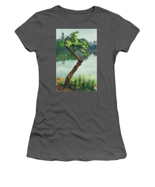 Dhanmondi Lake 03 Women's T-Shirt (Junior Cut) by Helal Uddin