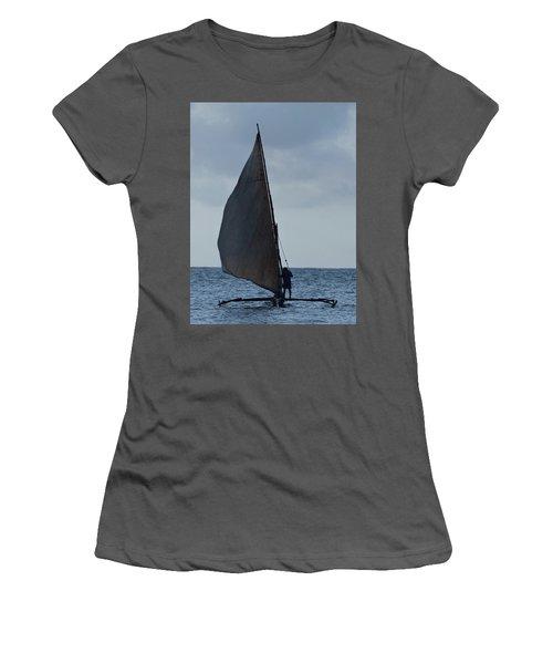 Dhow Wooden Boats In Sail Women's T-Shirt (Junior Cut) by Exploramum Exploramum
