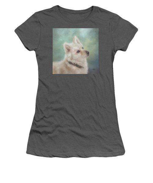 Diamond, The White Shepherd Women's T-Shirt (Junior Cut) by Colleen Taylor
