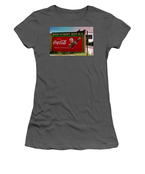 Dick And Runt Bbq Women's T-Shirt (Athletic Fit)