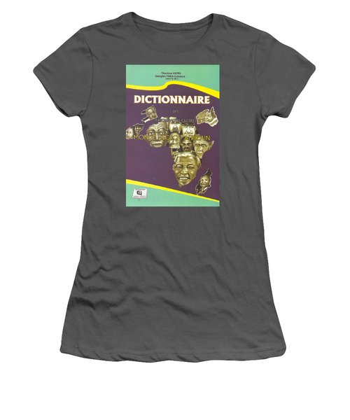 Women's T-Shirt (Junior Cut) featuring the painting Dictionary Of Negroafrican Celebrities 1 by Emmanuel Baliyanga