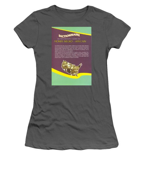 Women's T-Shirt (Junior Cut) featuring the painting Dictionary Of Negroafrican Celebrities 2 by Emmanuel Baliyanga