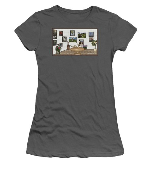 Digital Exhibition _ Relaxation In The Afterlife Women's T-Shirt (Athletic Fit)