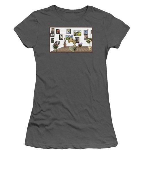 Digital Exhibition _  Sculpture Of A Horse Women's T-Shirt (Junior Cut) by Pemaro