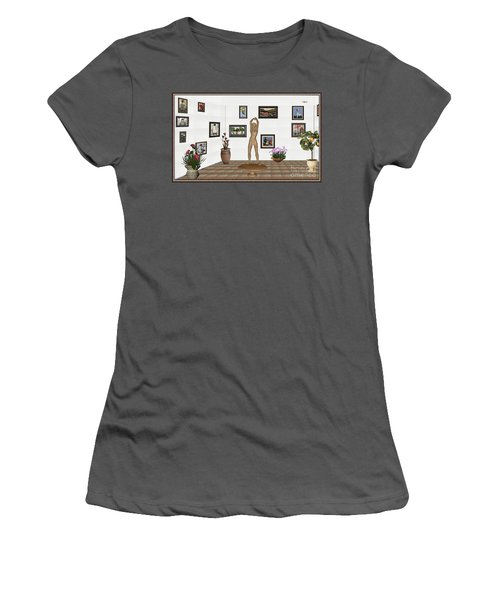 digital exhibition _ Statue of a Statue 23 of posing lady  Women's T-Shirt (Junior Cut) by Pemaro
