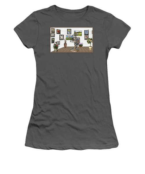 Digital Exhibition _ Statue Of Branches Women's T-Shirt (Junior Cut) by Pemaro