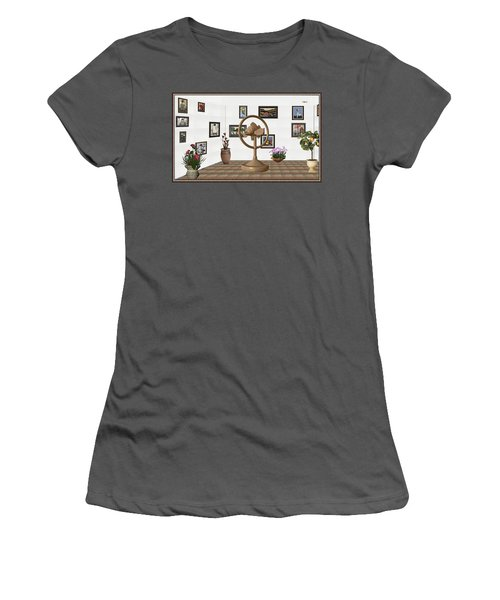 digital exhibition _ Statue of fish 1 Women's T-Shirt (Junior Cut) by Pemaro