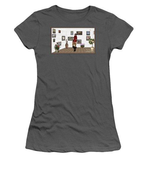 digital exhibition 32  posing  Girl 31  Women's T-Shirt (Junior Cut) by Pemaro