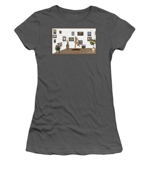 digital exhibition   sculpture of  posing  Girl 32  Women's T-Shirt (Junior Cut) by Pemaro