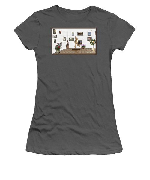 digital exhibition   sculpture of  posing  Girl 32  Women's T-Shirt (Athletic Fit)