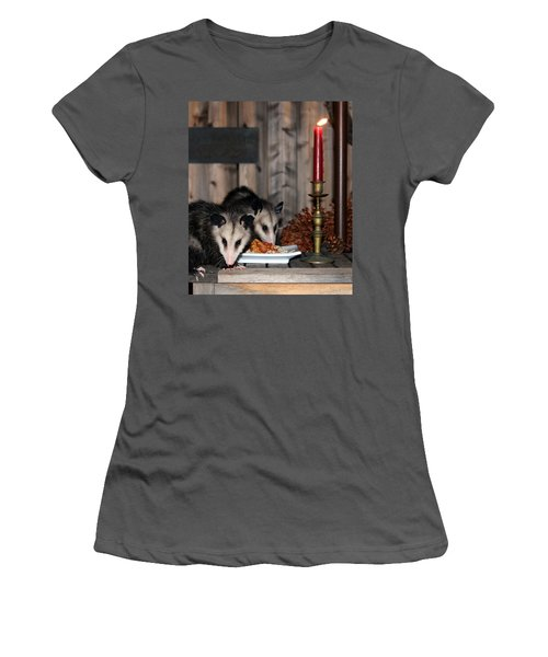 Dining Possums IIi Women's T-Shirt (Athletic Fit)