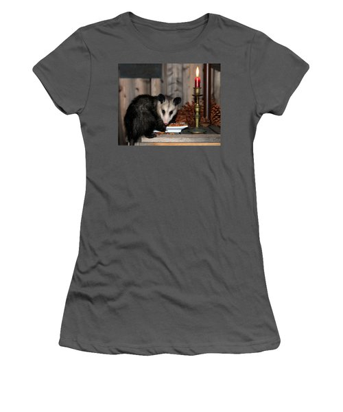 Dining Possums V Women's T-Shirt (Athletic Fit)